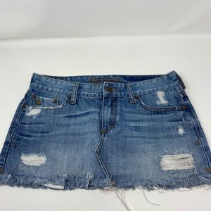 Abercrombie & Fitch Distressed Mini Skirt Sz 2